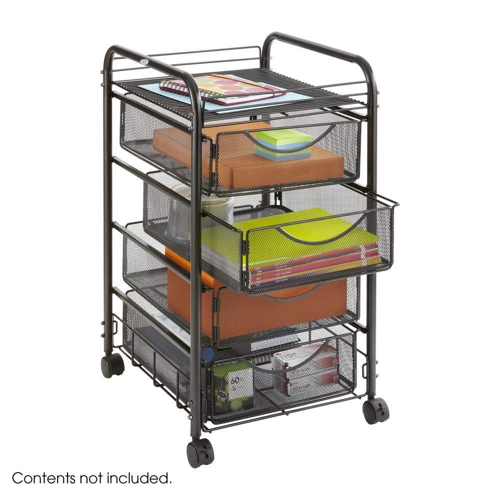 safco onyx mesh drawer file cart 2