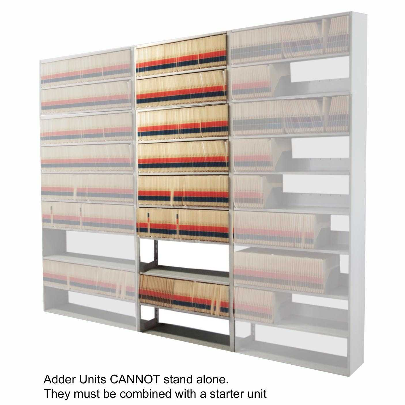 "Mayline Medical Shelving 9-Tier Adder Unit 36"" x 15"""