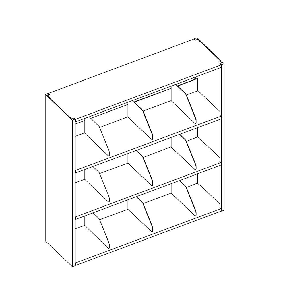 "Mayline 3-Tier 43""H Open Medical Shelving (Legal)"