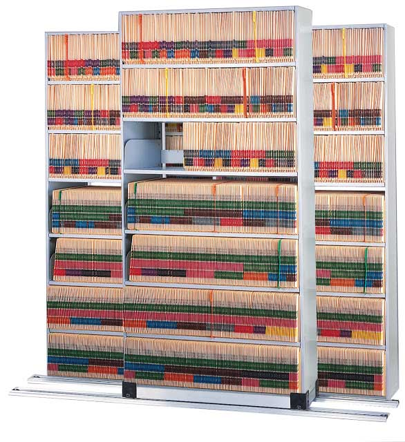 Mayline Medical Shelving on Kwik-Track