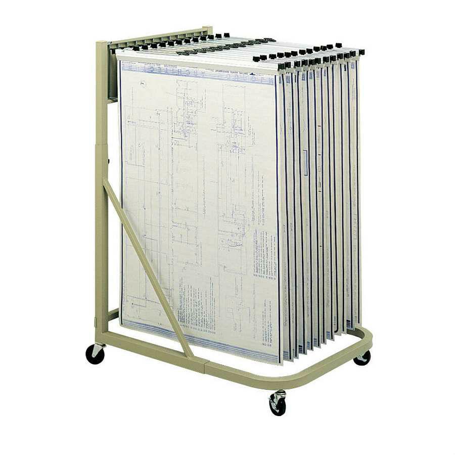 Blueprint storage flat files plan racks hanging for Architectural plan racks