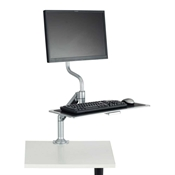 Desktop Sit/Stand Workstation sit stand workstation; sit to stand; standing desk; adjustable height; active office; desk accessory; desk accessories; personal workstation; sit to stand workstation; ergonomics; office; home office; monitor stand; computer workstation