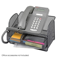 Onyx Mesh Telephone Stand Desk storage; Phone stand; Phone storage; Desk accessories; Ergonomic phone stand; Phone stand with storage