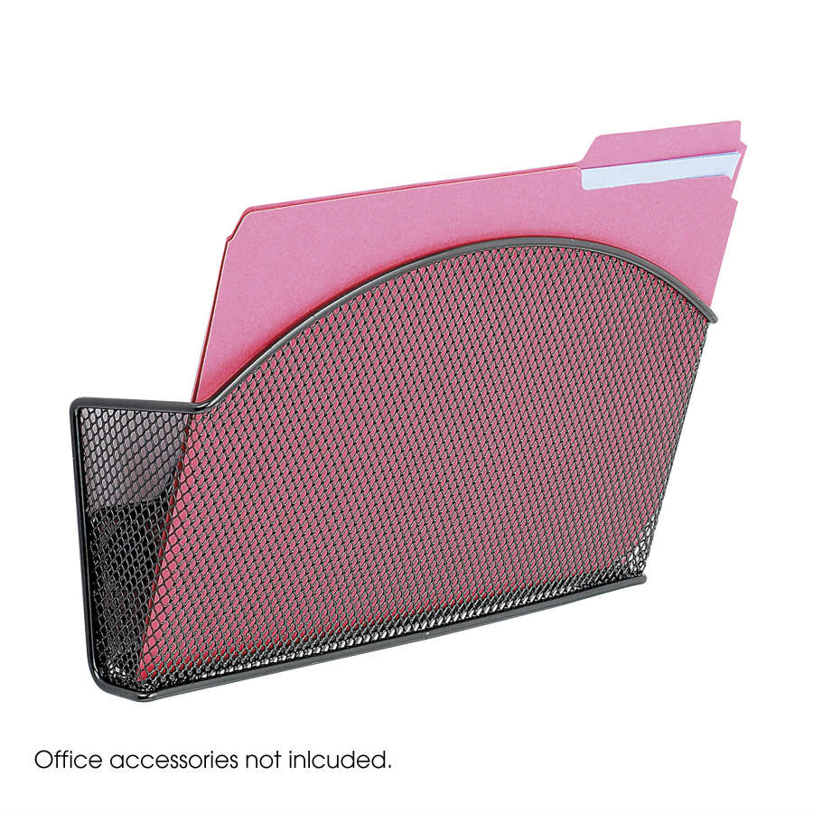 4176BL : Safco Onyx Mesh Magnetic Single File Pocket