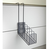 Onyx Mesh Panel Organizer Waterfall 5 Pocket Panel organizer; Panel organization; Mesh panel organizer; Mesh cubicle organizer; Cubicle organizer; Cubicle organization; Desk organizer; Desk organization; Office organization; Desk accessories