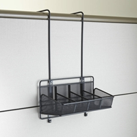 Onyx Mesh Panel Organizer Supplies 4 Pocket Panel organizer; Panel organization; Mesh panel organizer; Mesh cubicle organizer; Cubicle organizer; Cubicle organization; Desk organizer; Desk organization; Office organization; Desk accessories