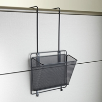 Onyx Mesh Panel Organizer Basket Panel organizer; Panel organization; Mesh panel organizer; Mesh cubicle organizer; Cubicle organizer; Cubicle organization; Desk organizer; Desk organization; Office organization; Desk accessories