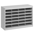 24 Comp. EZ Stor Steel Literature Organizer Cubbies; Forms sorter; Literature sorter; Mail box;  Mailbox; Teacher mailbox; Classroom mailbox; Classroom sorter; Classroom organizer; Paper organizer; Project organizer; Cubbies for classroom; Classroom cubby; Office furniture; Black forms sorter; Black literature sorter; Black mail box