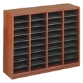 36 Comp. EZ Stor Wood Literature Organizer Cubbies; Forms sorter; Literature sorter; Mail box;  Mailbox; Teacher mailbox; Classroom mailbox; Classroom sorter; Classroom organizer; Paper organizer; Project organizer; Cubbies for classroom; Classroom cubby; Office furniture; Cherry forms sorter; Cherry literature sorter; Cherry mail box