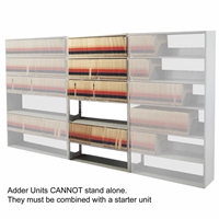 "Mayline Medical Shelving 6-Tier Adder Unit 24"" x 15"""