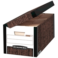 Systematic Storage Boxes - Letter, Woodgrain, Carton of 12
