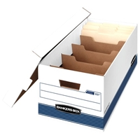 Stor-File Dividerbox Storage Boxes - Letter, Carton of 12