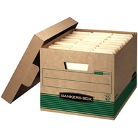 Recycled Stor-File Storage Boxes - LETTER/LEGAL, Carton of 12