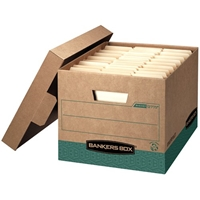 Recycled R-Kive Storage Boxes - Letter/Legal, Carton of 12