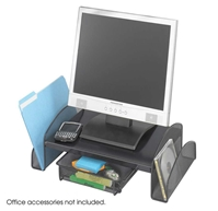 2159BL : Safco Onyx Mesh Monitor Stand