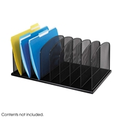 3253BL : Safco Onyx Mesh Desk Organizer 8 Upright Sections
