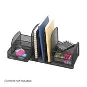 3263BL : Safco Onyx Mesh Organizer 3 Upright - 2 Baskets