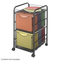 5212BL : Safco Onyx Mesh File Cart with 2 File Drawers