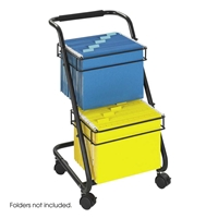 5223BL : Safco Jazz Two-Tier File Cart