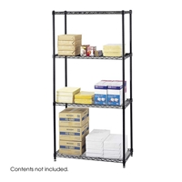 "36"" x 18"" Commercial Wire Shelving Steel shelving; Storage shelving; Extra strength steel shelving; Garage storage; Commerical wire shelving; Wire shelving; Wire storage shelving; Backroom storage; Backroom shelving; Facility maintenance; Heavy duty steel shelving; Black steel shelving; Black storage shelving; Black extra strength steel shelving"