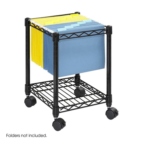 5277BL : Safco Compact Mobile File Cart
