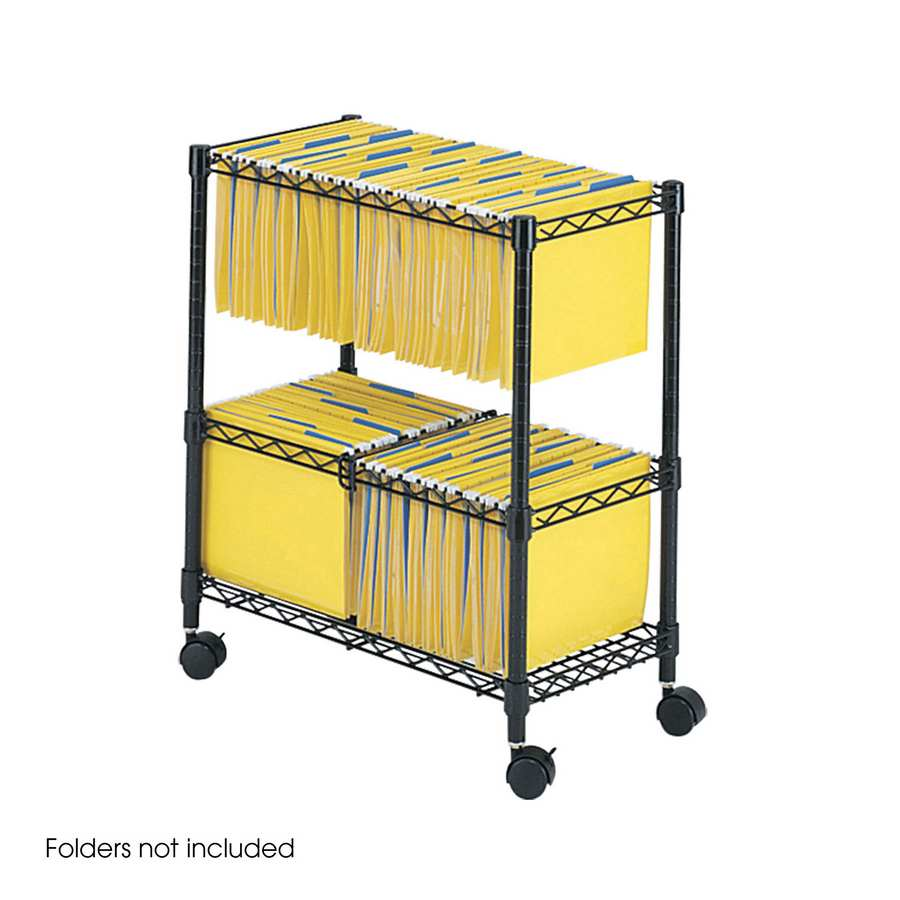 5278BL : Safco 2-tier Rolling Filing Cart