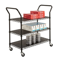 5338BL : Safco Wire Utility Cart 3 Shelf