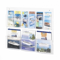 5666CL : Safco Clear2c 6 Pamphlet 3 Magazine Display