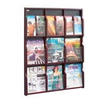 5702 : Safco Expose 9 Magazine or 18 Pamphlet Display