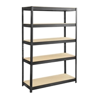 Boltless Steel and Particleboard Shelving 48x18 Particleboard shelving; Boltless shelving; Boltless steel shelving; Steel shelving; Storage shelving; Extra strength steel shelving; Garage storage; Backroom storage; Backroom shelving; Steel racking; Facility maintenance; Heavy duty steel shelving; Black steel shelving; Black storage shelving; Black extra strength steel shelving
