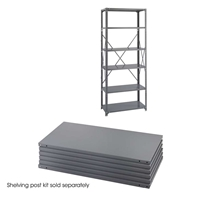 "Industrial Steel Shelf Pack 6-Shelves 36"" x 18"" Industrial shelving; Industrial storage shelving; Industrial backroom shelving; Industrail back room shelving; Steel shelving; Storage shelving; Extra strength steel shelving; Garage storage; Backroom storage; Backroom shelving; Backroom organziation; Back room storage; Back room shelving; Back room organziation; Facility maintenance; Heavy duty steel shelving"