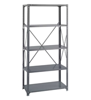Commercial Steel Shelving 36 x 18, 5 Shelf Kit   Industrial shelving; Industrial storage shelving; Industrial backroom shelving; Industrail back room shelving; Steel shelving; Storage shelving; Extra strength steel shelving; Garage storage; Backroom storage; Backroom shelving; Backroom organziation; Back room storage; Back room shelving; Back room organziation; Facility maintenance; Heavy duty steel shelving