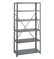 Commercial Steel Shelving 36 x 18, 6 Shelf Kit   Industrial wire shelving; Industrial wire storage shelving; Industrial backroom shelving; Industrail back room shelving; Steel shelving; Storage shelving; Extra strength steel shelving; Garage storage; Backroom storage; Backroom shelving; Backroom organziation; Back room storage; Back room shelving; Back room organziation; Facility maintenance; Heavy duty steel shelving