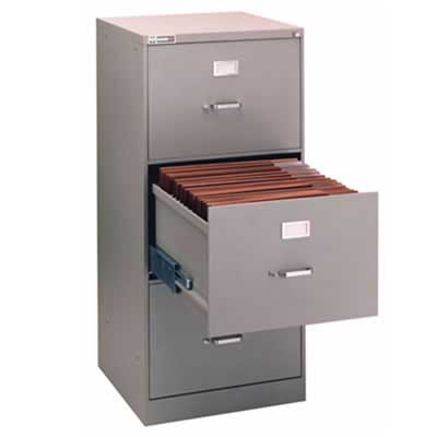 "9"" x 12"" 3-Drawer File with Lock"